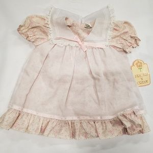 Vintage Peaches and cream infant 24 months dress